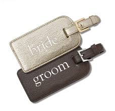 and groom luggage tags my luxefinds gift guide gifts for your newly engaged friend