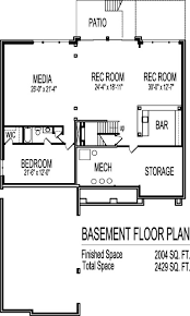 bungalow house plans with basement house floor plans design beautiful 2 story four bedroom