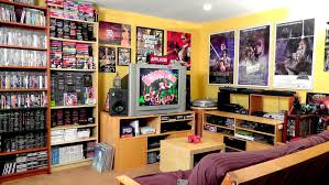 home interiors fantastic game room designs with red wall and