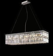 Dining Room Crystal Chandelier by Modern Contemporary Rectangular Linear Dining Room Crystal