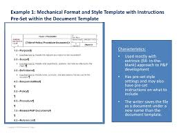 policy and procedure template best photos of policies and