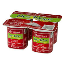 How Much Fiber In Cottage Cheese by Breakstone U0027s Liveactive Low Fat For Digestive Health 4 Oz Cottage