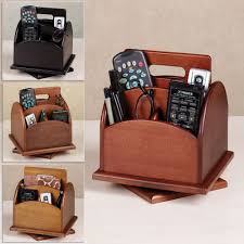 Leather Desk Organizer by Revolving Desk Or Remote Control Organizer