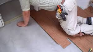 How To Put Laminate Flooring Down How To Install Laminate Flooring On Concrete Slab In Tiny Room