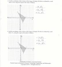 Coordinate Grid Pictures Worksheets Dilation Coordinates Students Are Asked To Dilate Two Dimensional