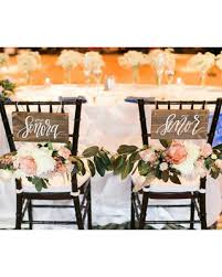 wedding chair signs deal alert seor and seora signs ready to ship wooden wedding