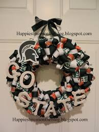 ohio state ribbon happiest on the ribbon wreath michigan state