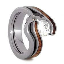 diamond wood rings images Charles colvard forever one moissanite tulip wood jpg
