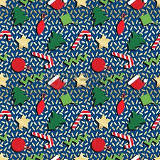 comic wrapping paper simple winter geometrical seamless pattern in retro comic