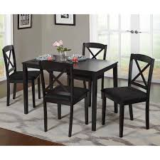 Glass Dining Table 4 Chairs Costway 5 Piece Kitchen Dining Set Glass Metal Table And 4 Chairs