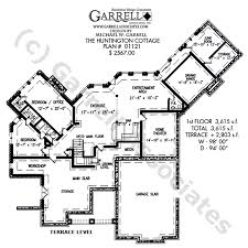 large ranch floor plans huntington cottage house plan house plans by garrell associates