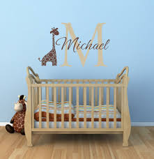 Giraffe Wall Decals For Nursery Name And Initial Vinyl Wall Decals Giraffe Wall Decals Home