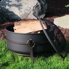 Steel Firepit Cauldron Pit Wayfair