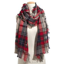 openweave scarf in scottsdale plaid scarves madewell