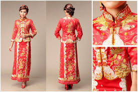 Chinese Wedding Dress Traditional Chinese Wedding Dress Qun Kwa Popular Wedding Dress 2017