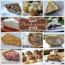 easy thanksgiving pies mix and match