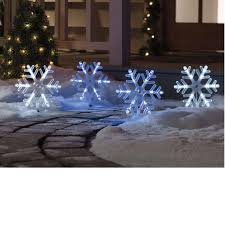 Lighted Snowflakes Outdoor by Led Christmas Pathway Lights Star Pathway Markers 35 Led Lights
