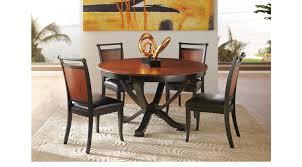 orland park black 5 pc round dining set contemporary
