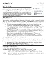 law enforcement resume military police officer resume sample