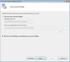 visual studio reset application settings microsoft visual studio 2010 debugger