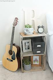 Nightstand Ideas by Diy Crate Nightstand Would Love This In The Music Corner For