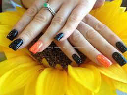 eye candy nails u0026 training acrylic nails with black gelish gel