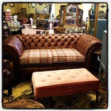 Tartan Chesterfield Sofa Gaiety Antique And Vintage Store Galway Leather And Tartan