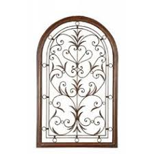 Uttermost Metal Wall Decor Uttermost Elgin Arched Forged Metal Wall Art In Aged Black Wall