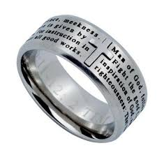 cross rings men images Man of god cross ring engraved bible verse 1 timothy stainless jpg