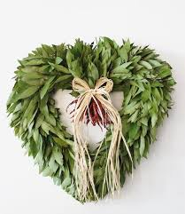bay leaf wreath heart shaped bay leaf wreaths mcfadden farm