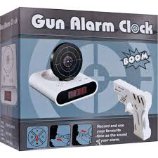 amazon com gun and target recordable alarm clock by tg home