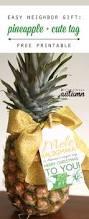 easy neighbor gift idea pineapple cute tag it u0027s always autumn