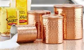 copper kitchen canister sets 4 pc copper kitchen canister set hammered copper
