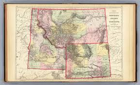 Idaho Counties Map Mont Ida Wyo David Rumsey Historical Map Collection