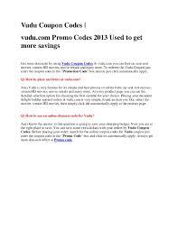 vudu coupons vudu coupon codes vudu com promo codes