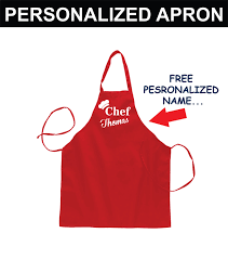 Personalized Kitchen Aprons Personalized Apron For Men Fathers Day Grilling Aprons Women