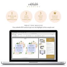 flower wedding invitation template 5x7 instant download