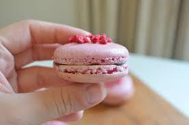 raspberry macarons with chocolate ganache baking with aimee