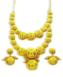 gold chain necklace wholesale images Design golden plated necklace set african gold jewelry african jpeg