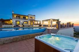 golden hill villa in malaxa village chania crete villa chania