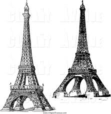 eiffel tower clipart landmark pencil and in color eiffel tower