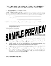 New York Durable Power Of Attorney Form by Colorado Power Of Attorney To Delegate Temporary Authority For
