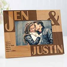 personalized picture frames because of you 4x6
