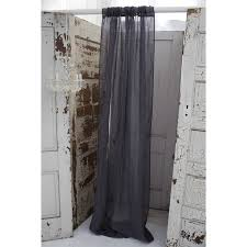 Slate Gray Curtains Couture Dreams Solid Slate Grey Linen Window Curtain Window