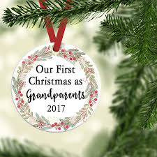 baby reveal grandparent ornament grandparents to