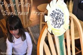 Paper Plate Sunflower House  Kids Activities  Saving Money  Home