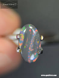 matrix opal ring 1 1 ct u201cone of a kind u201d black opal 10 8 x 6 2 x 2 4 mm opal first