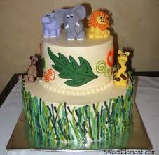 jungle baby shower cakes baby shower cake sweetelement