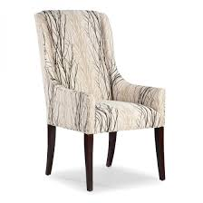 dining arm chairs upholstered interesting cream tree pattern fabric dining chair with swoop back