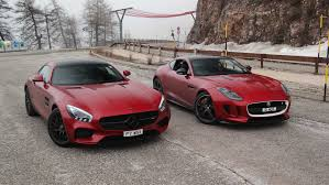 mercedes amg gt s vs jaguar f type r youtube